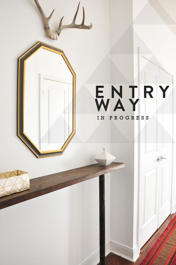 entryway update, hallway update