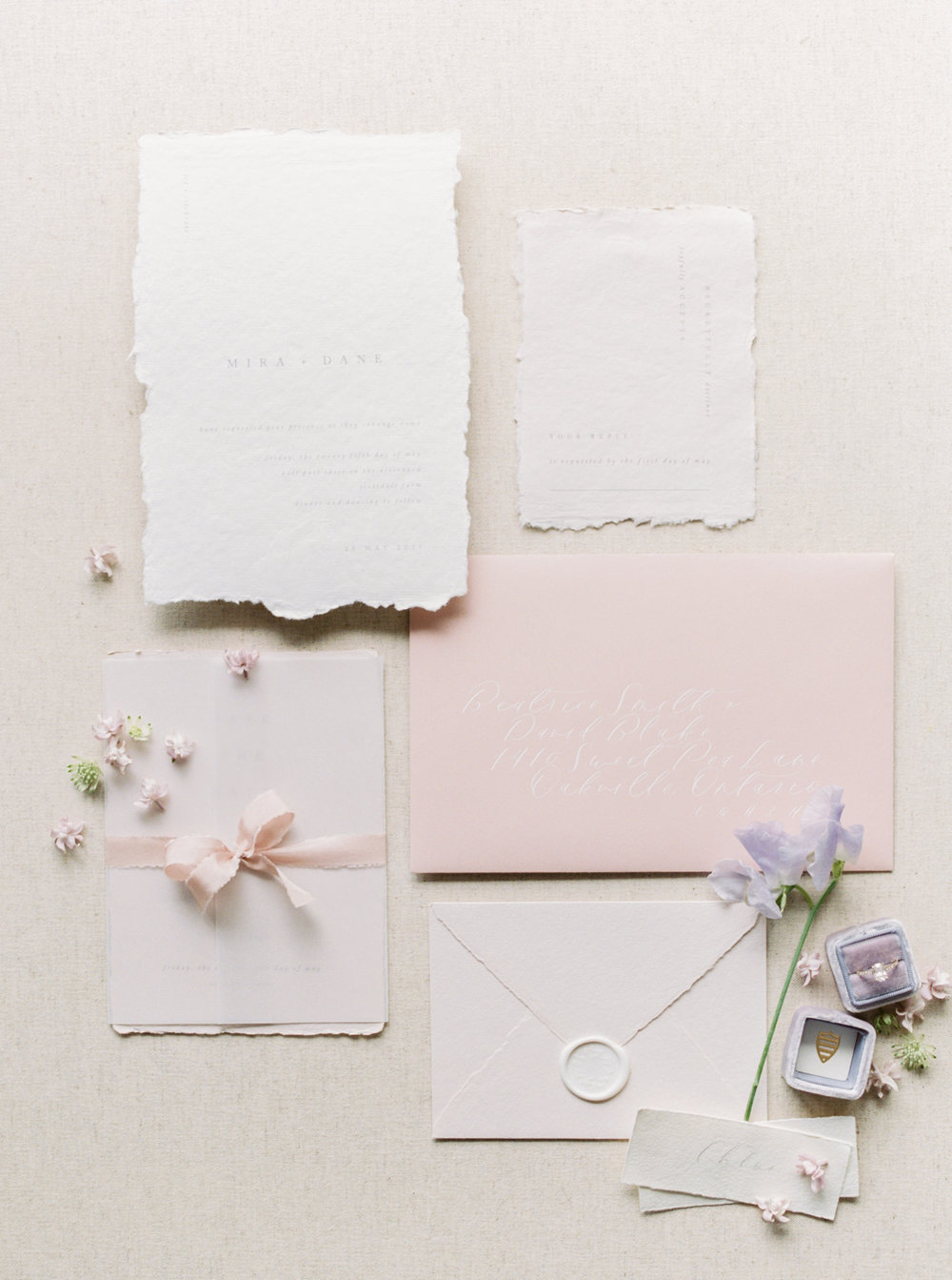 Photo by  Kayla Yestal  | Stationery by  Flourish Calligraphy  | Featured on  Magnolia Rouge