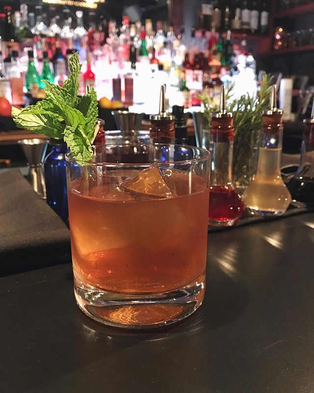 Join us tonight for our Houstonian cocktail! This weekend feature has fresh peach infused @longroadgr Bourbon, @AmaroMontenegro & hazelnut liqueur. This cocktail was created in honor of the hurricane victims in Texas, and we'll also be donating a portion of our tips tonight to Hurricane Harvey relief. So come on by and help support fellow Americans in need!