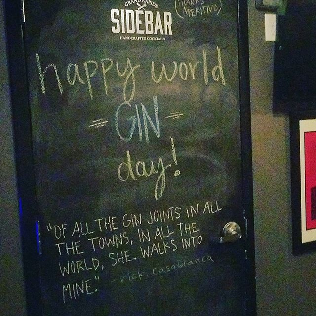 From humble medicinal tincture to the tipple we all know and love Gin has come a long way and we think that's something to celebrate so come to SideBar and enjoy World Gin Day with us! Enjoy it as you will, from martini to french 75 and beyond nothing beats the crisp herbal flavor of a fine Gin! Cheers! #Gin #Worldginday #cocktails #martini #casablanca