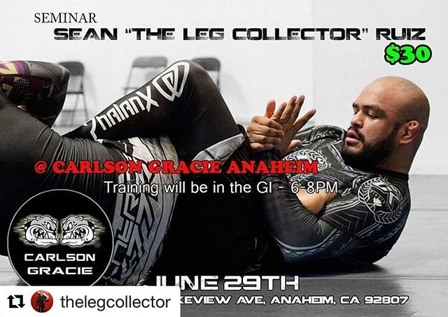 If your near #anaheim next week, your going to want to make this.  Bring your #mobilitytools ...going to need them -------- #Repost @thelegcollector (@get_repost) ・・・ I'm coming to bring my version of wholesome family entertainment to the magic kingdom of Anaheim! 6-8pm in the Gi! @carlsongracie_anaheim JUNE 29TH NEXT THURSDAY NIGHT!!! -ALL AFFILIATIONS WELCOME-