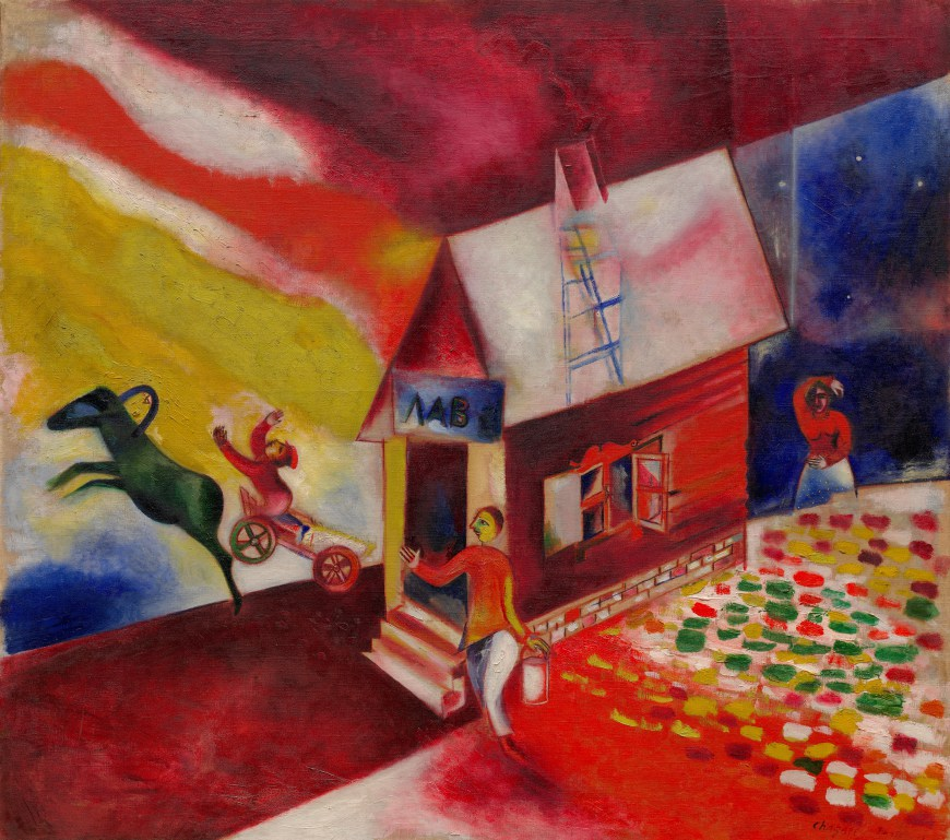 The Flying Carriage, Marc Chagall (1913)