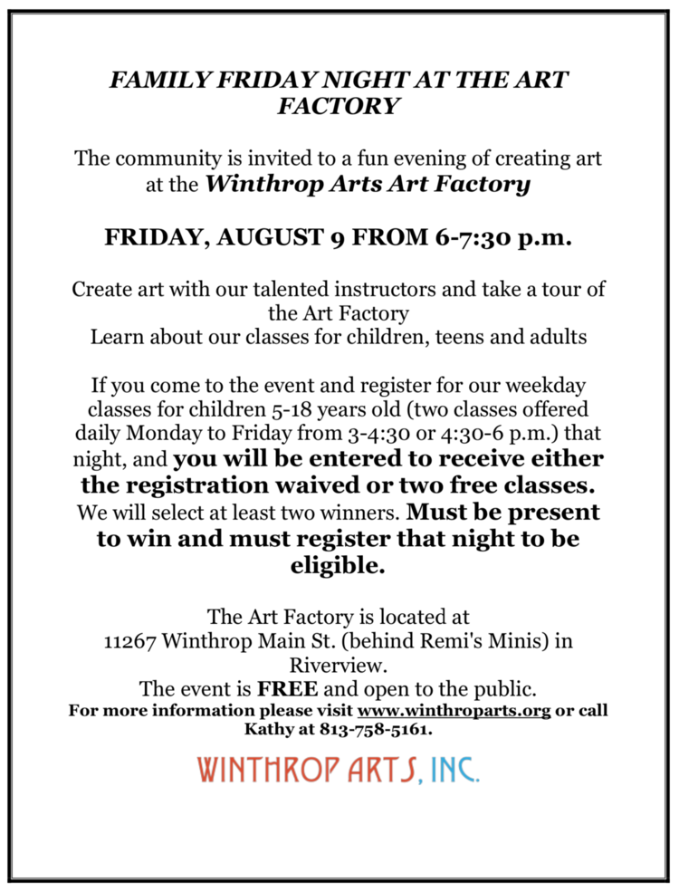 Our Events — Winthrop Arts, Inc