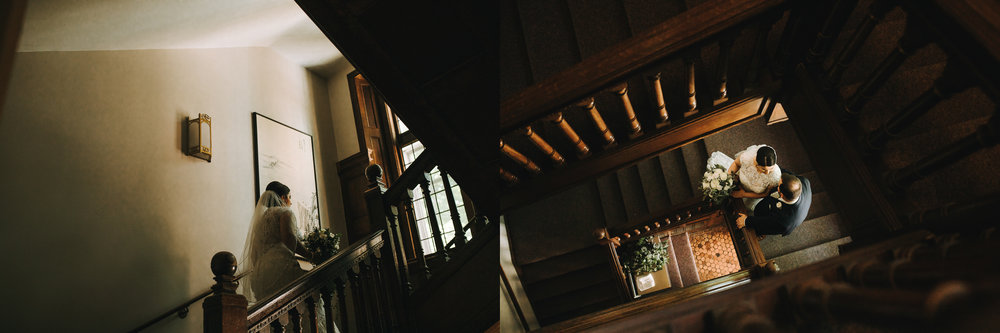 The stairs on Aquinas' campus were so dreamy for Bob and Caitlin!