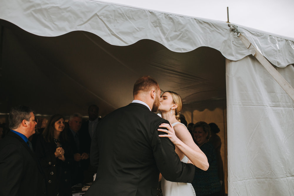 Entrance into the reception