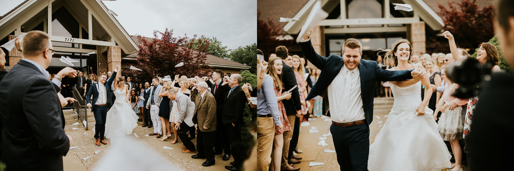 The best exit from a ceremony I've ever seen. Paper airplanes.