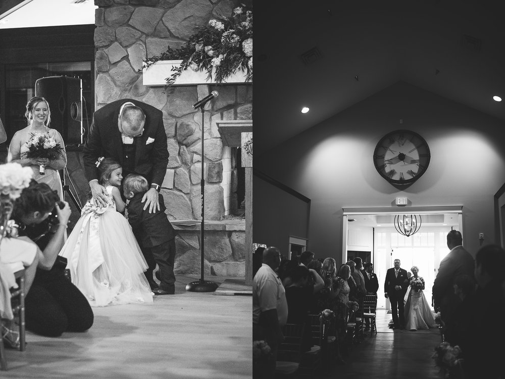The ceremony was rained out, but turned out beautiful!