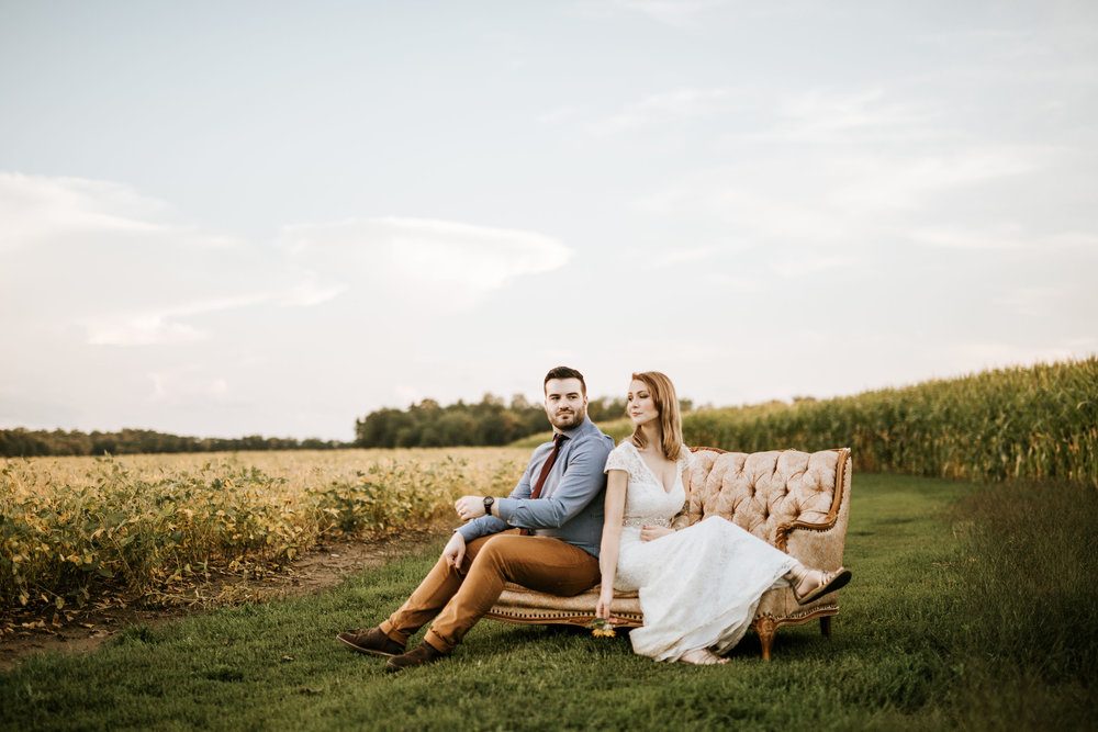 The owners of Adam's Acres were so sweet and hauled this couch out for some photos!