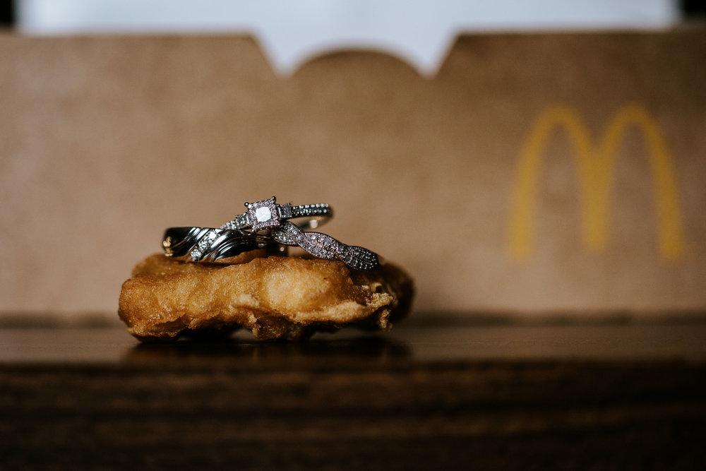 We're going to start with the chicken nugget ring shot. #notsponsoredbymcdonalds #theymayhavehadsomethingtodowithit