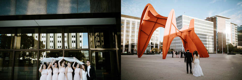 Us trying to set up a veil shot, and my sneaky picture with the Calder