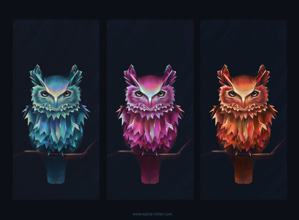 Colorful Owl of Minerva