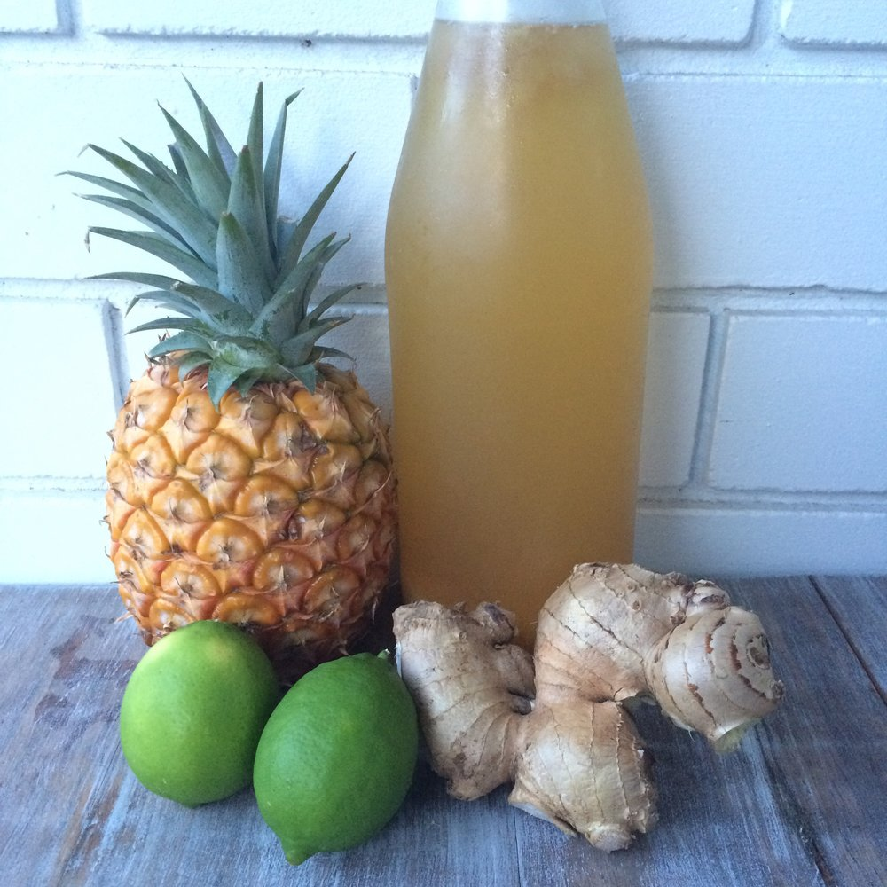 pineapple lime ginger kombucha