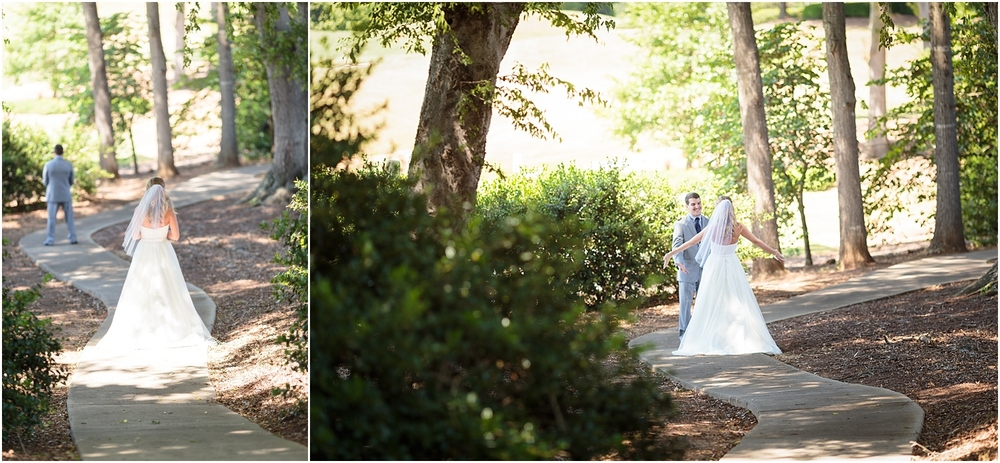 Bride and Groom Portraits,First Look,b+g,bride,clemson,clemson bride,clemson golf course,clemson summer wedding,clemson tiger wedding,clemson tigers,clemson wedding,greenville wedding,groom,madren center,outdoor wedding,wedding,wedding photography,
