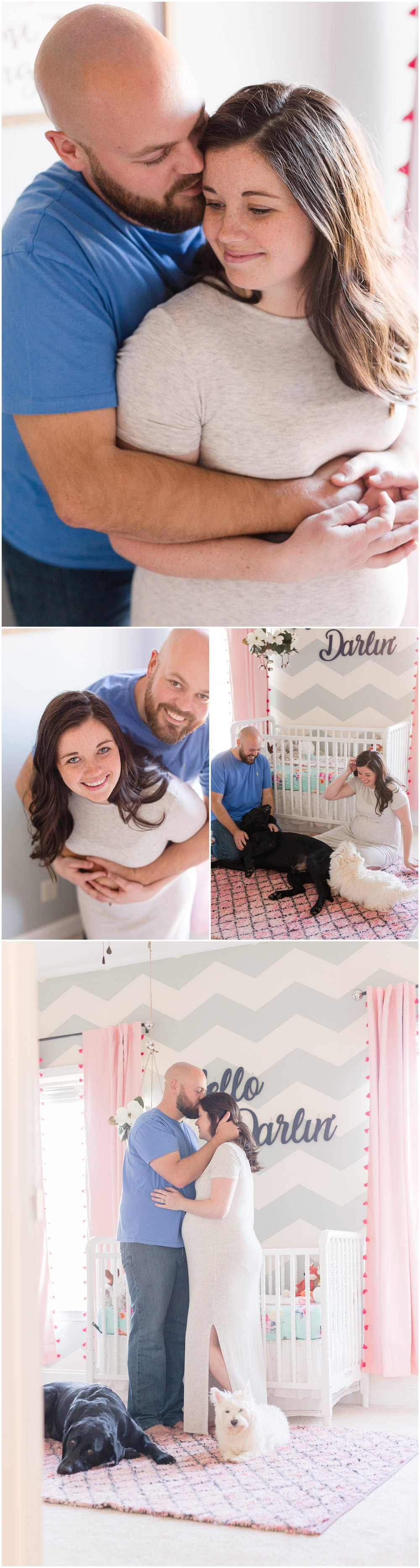 Lifestyle maternity photos at home in South Carolina