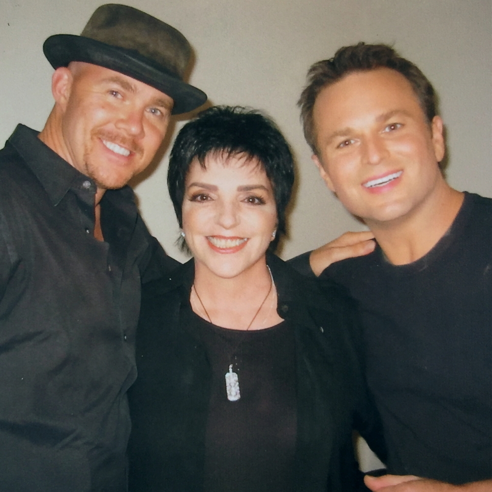 Todd with Sam Harris & Liza Minelli
