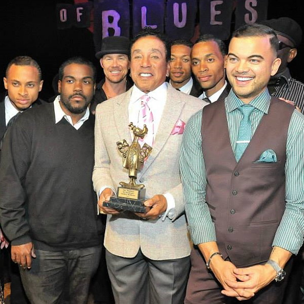 Todd with Smokey Robinson et al.