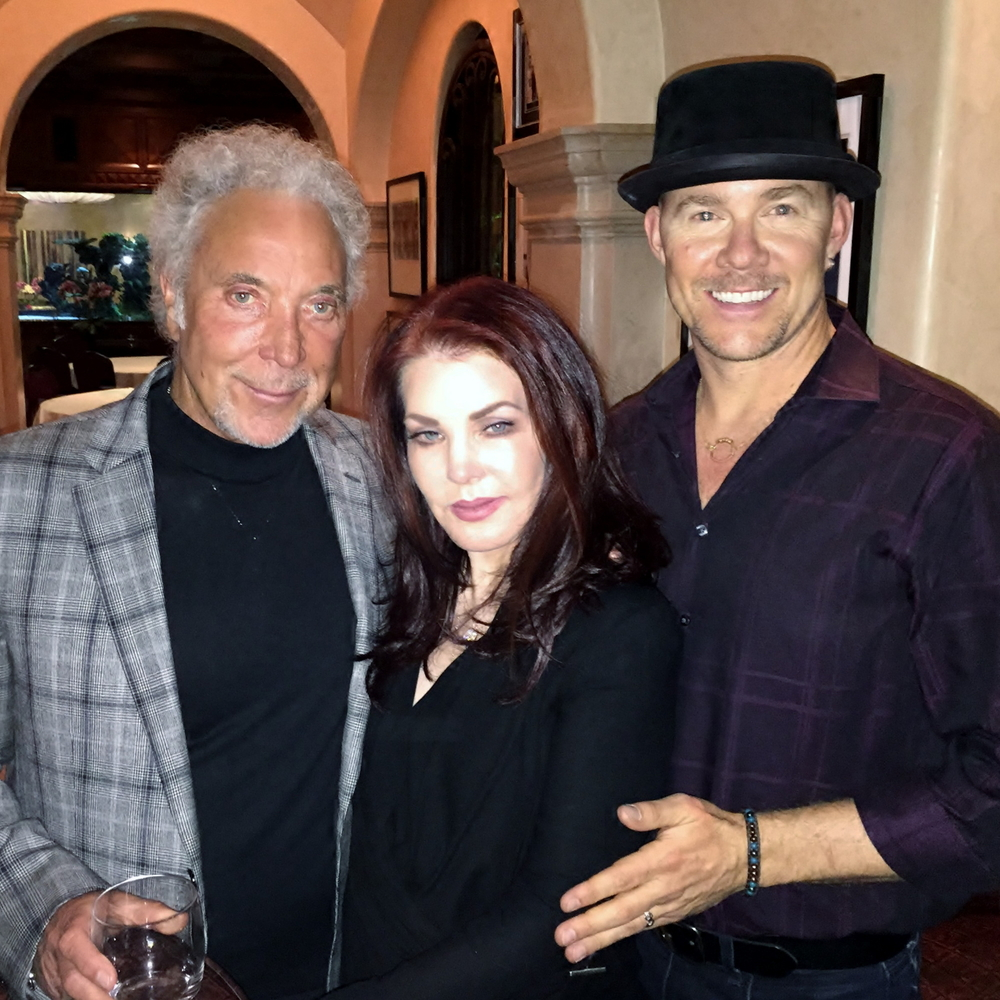 Todd with Tom Jones and Priscilla Presley