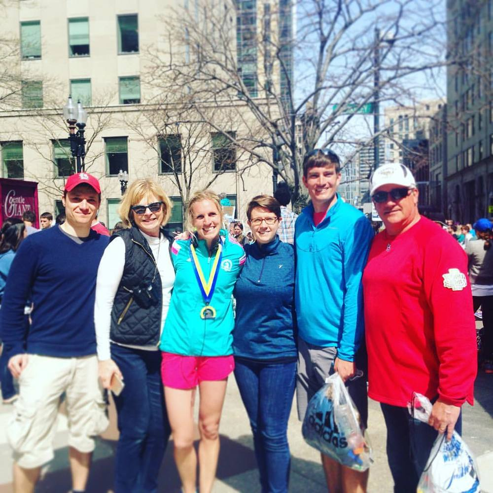Thanks for all the well wishes for The Boston Marathon today! It is truly a beast of a race but I was happy with my finish in 3:25. Thanks to my cheering squad that came along and a special shoutout to The Schobers for our luxurious, downtown Boston accommodations! #boston2016 #bostonstrong #icantfeelmylegs  (at The Boston Marathon)