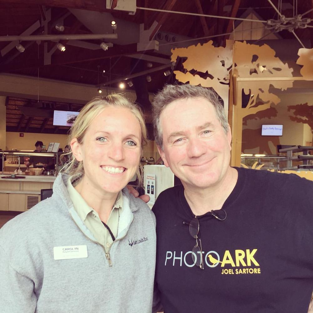 Meeting Joe Sartore at work today!#stlzoo
