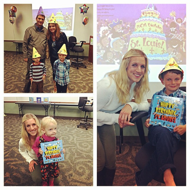 "Fun times at the St. Charles County Library ""Happy Birthday, St.Louis!"" Birthday party! #khakishorts #stl250 #lovethelou"