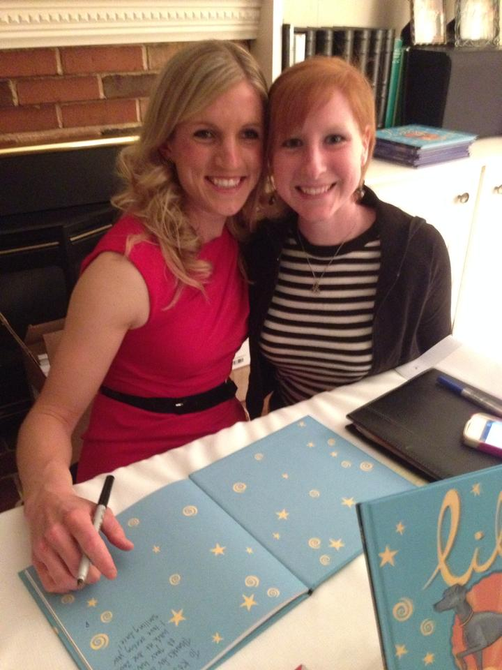 "Katie Wall and I with ""Lily"" books"