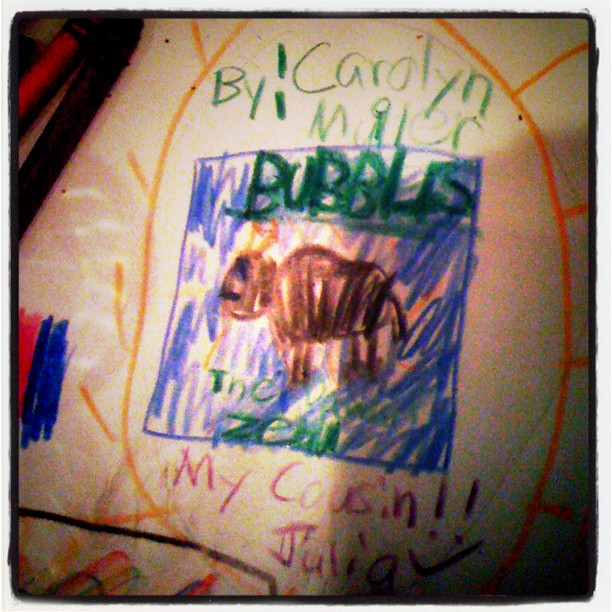 "My cousin Julia's tribute to ""Bubbles"" (Taken with  Instagram )"