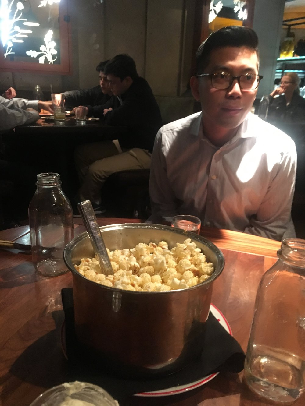 D.C. has a lot of awesome restaurants, including this one that served kettle corn for an appetizer!