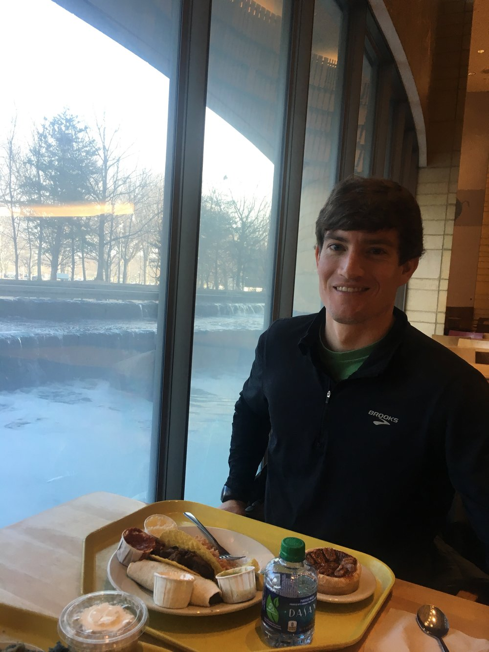 John, enjoying lunch at the Museum of the American Indian