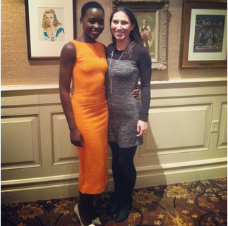 4. Lupita's claim to fame = Winning an Oscar. Mine = Talking to Lupita about her Oscar win.