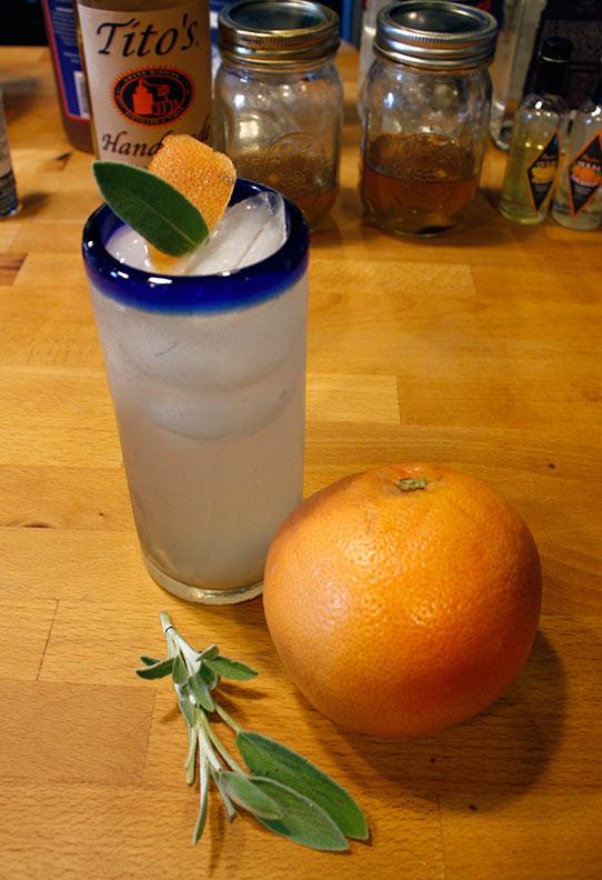 Sage and Grapefruit Spritzer