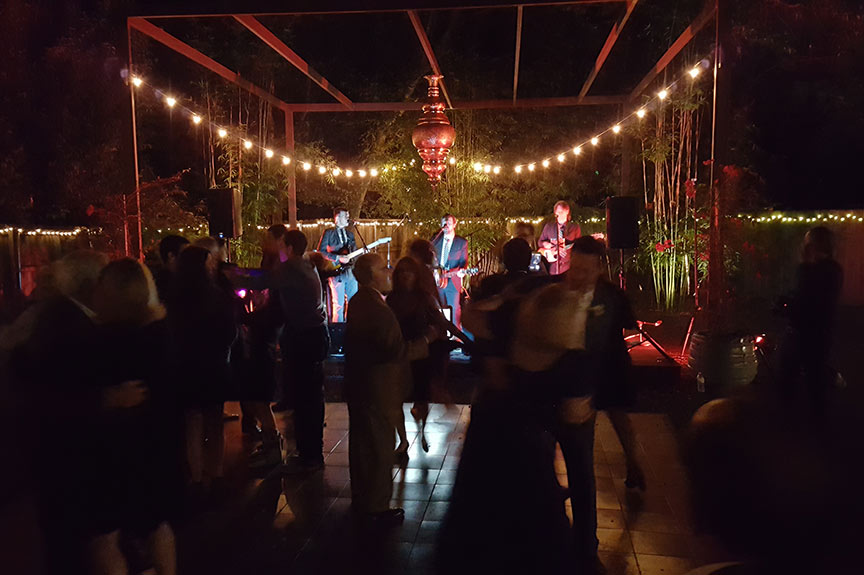 it's a dance party at Aritculture Designs, wedding venue in Austin, TX