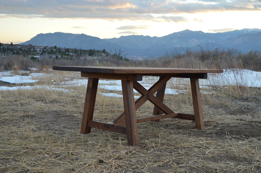 Rustic Trades Walnut Modern Farm Table.JPG