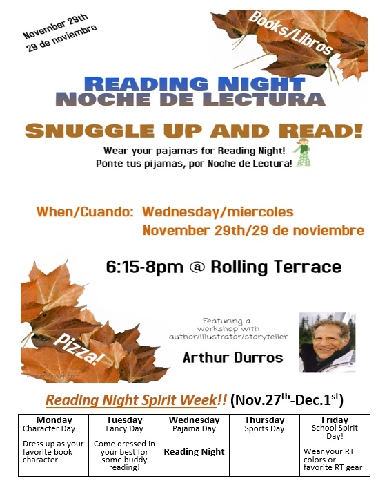 Reading Night and Spirit Week.jpg