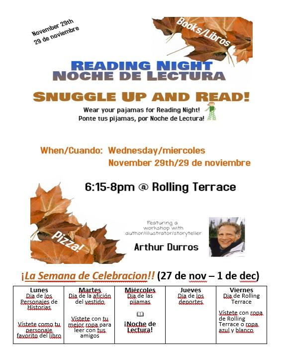 Reading Night and Spirit Week esp.jpg