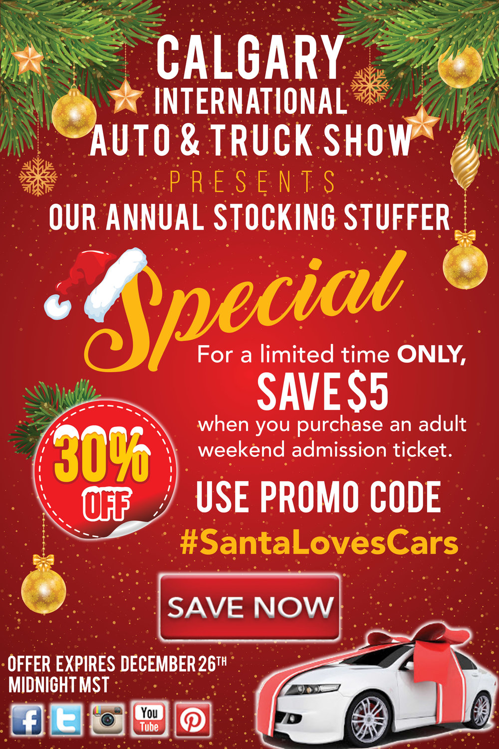Calgary International Auto And Truck Show Stocking Stuffer Promotion