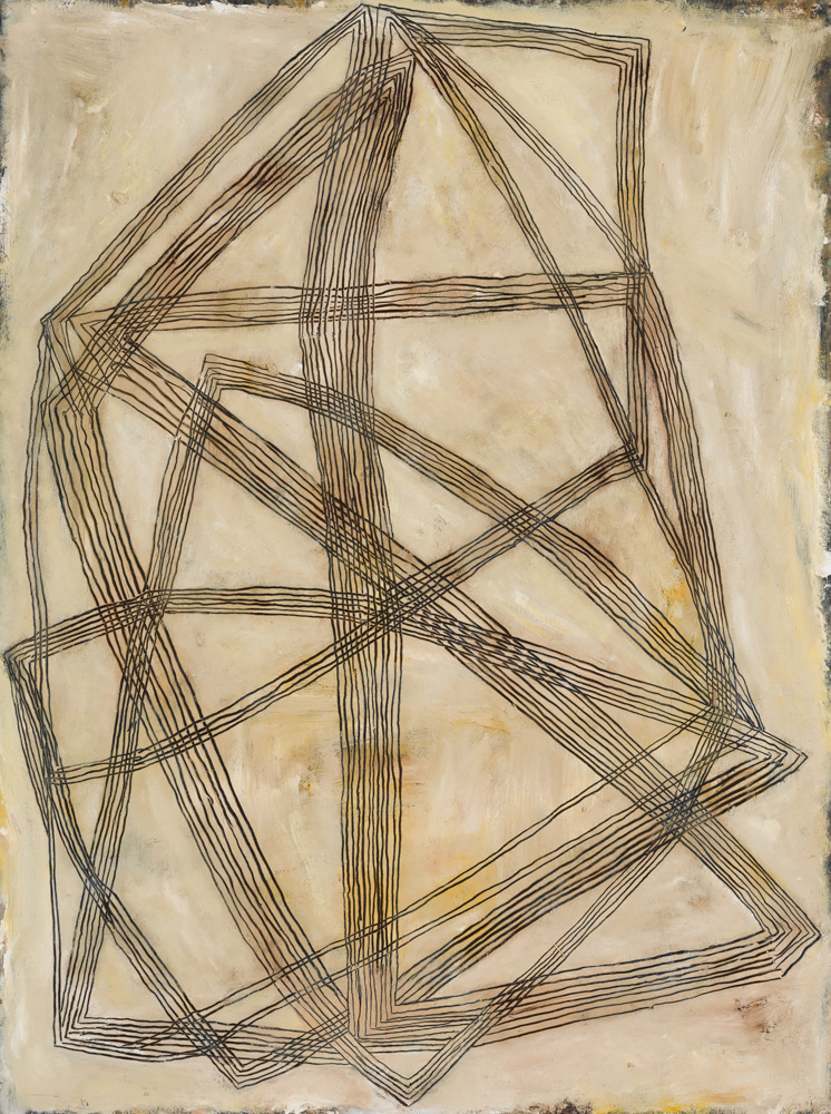 Highly Strung,   102x76cm, Oil paint and graphite on card mounted on plywood