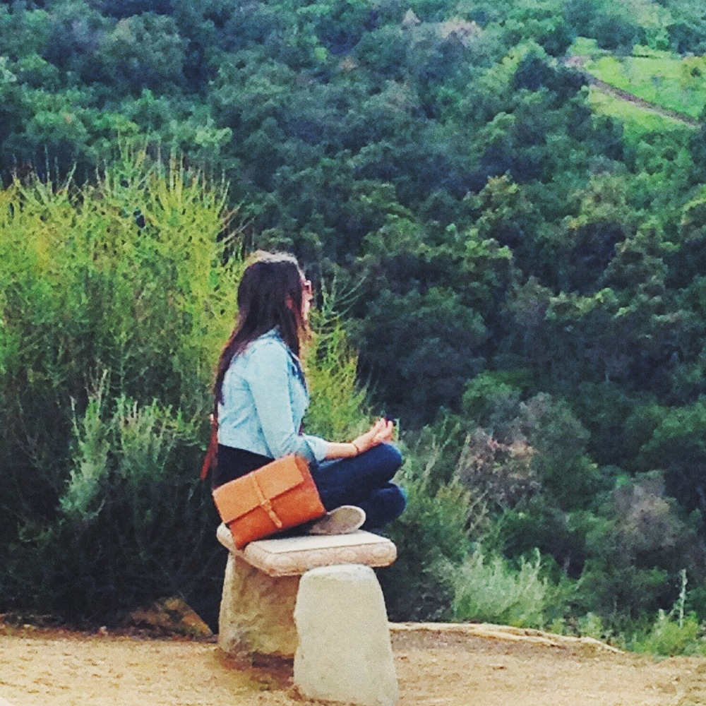 Meditating in the mountains in OJAI, CA