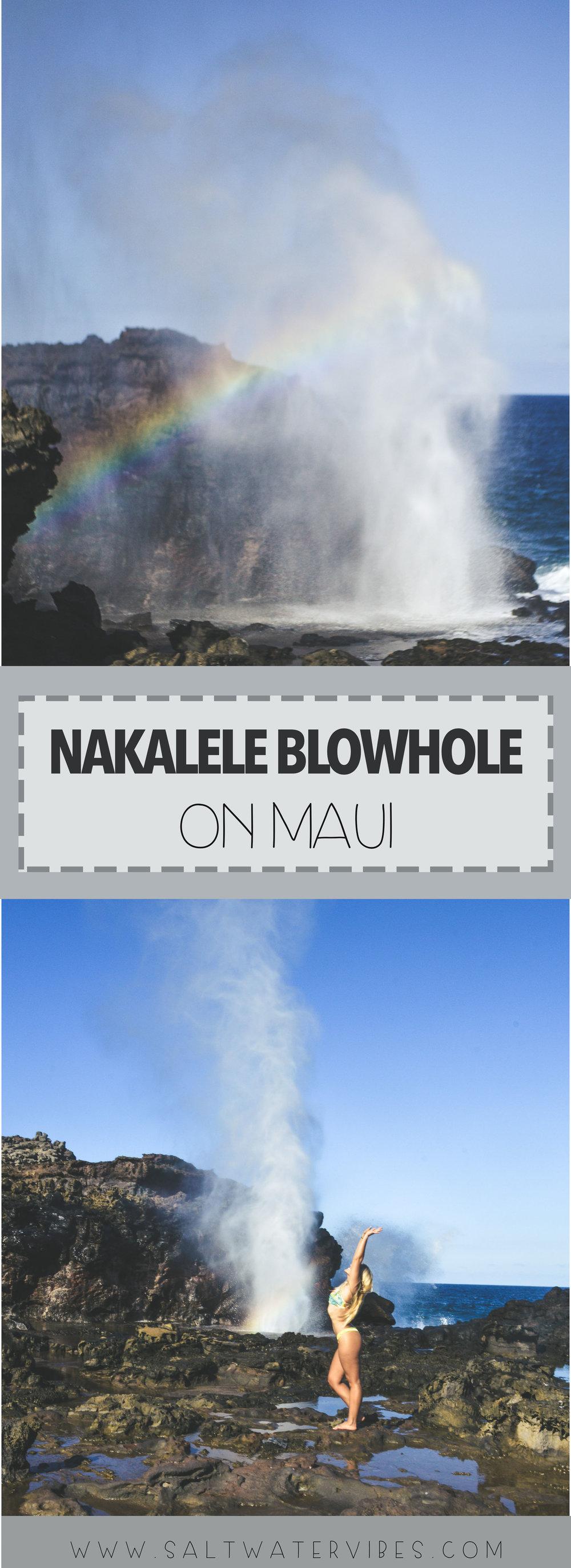 Nakalele Blowhole + SaltWaterVibes