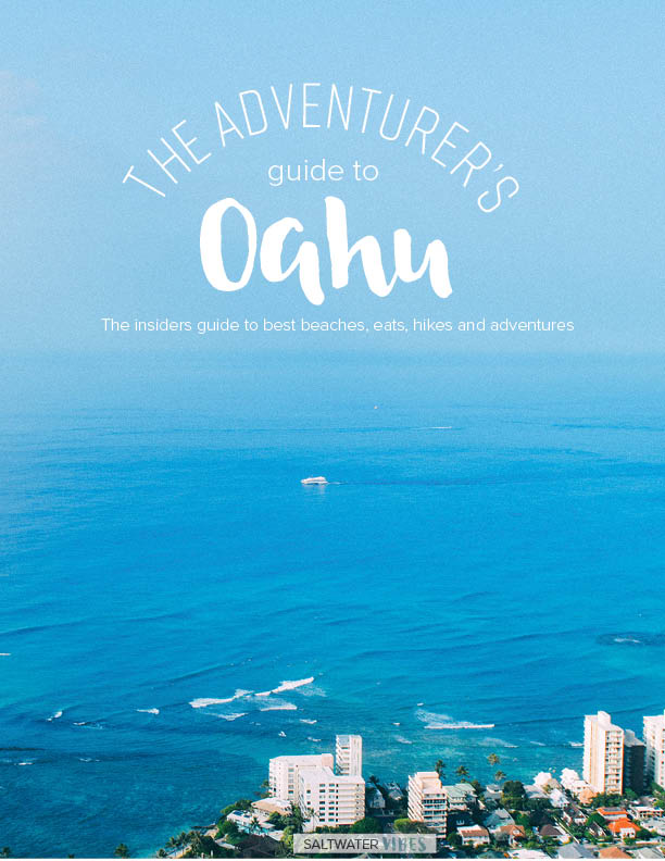 The Adventurer's Guide to Oahu - Are you ready to plan the adventure of a lifetime? This insiders guide is full of details on some of the most epic experiences here on Oahu. From unique hikes, adventures, eats, and a look at the best beaches + more you will be able to plan some of the best experiences of your life. After living on the island for 4 years I was able to truly learn and explore as much as possible. I believe everyone should be able to have the same experiences as me, including YOU.Over 300+ pages of 30 hikes, 20 beaches, 15 adventures, countless restaurants and so so much more. You will truly become an expert on Oahu after this fun interactive ebook and be able to explore every side of the island at ease.
