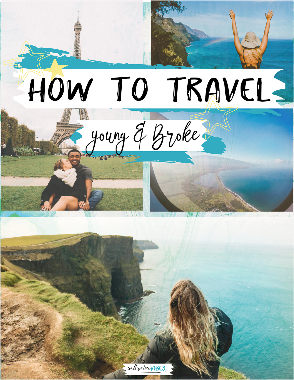 How To Travel Young And Broke - In less than one years time, Rashawn and I were able to travel to fifteen countries, twelve US States, and three continents. We didn't have fancy sponsorships or any money saved. We worked hard at out minimum wage jobs and choose to spend our earnings on travels and memories. We learned so much about ourselves, the world, and traveling! We want others to learn from our mistakes and know that YOU too can have these amazing experiences.Dive into this creative ebook full of our stories, advice, print outs, and more! Plus - take the audio book along for your next road trip or flight! These products are all designed with you in mind, to help you see the world.