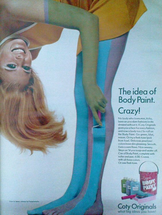 Why wear stockings when you can use a special roller to apply body paint?