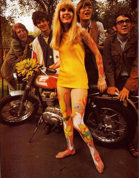 60s mini dresses and body art