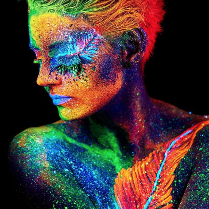 UV Glitter Face and Body Gel from  Light It Up Clothing
