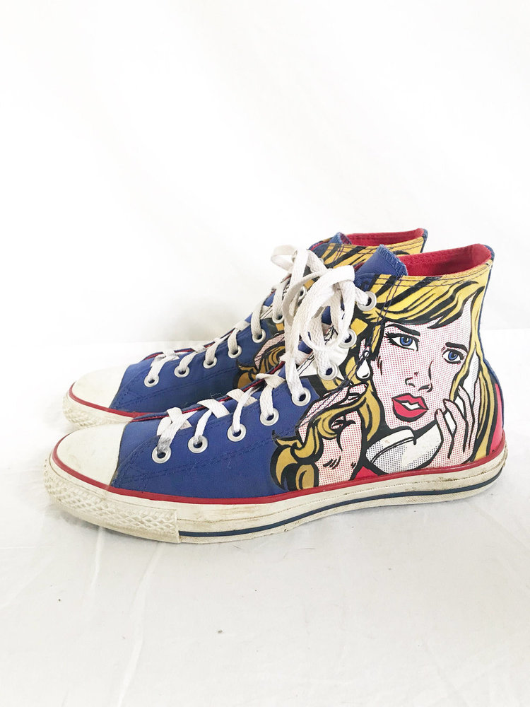 10d50650ee56 Roy Lichenstein Pop Art High Top Sneakers from Time Bomb Vintage