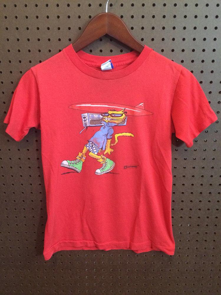 80s Converse Cat Tshirt from  Vintage Kewpie