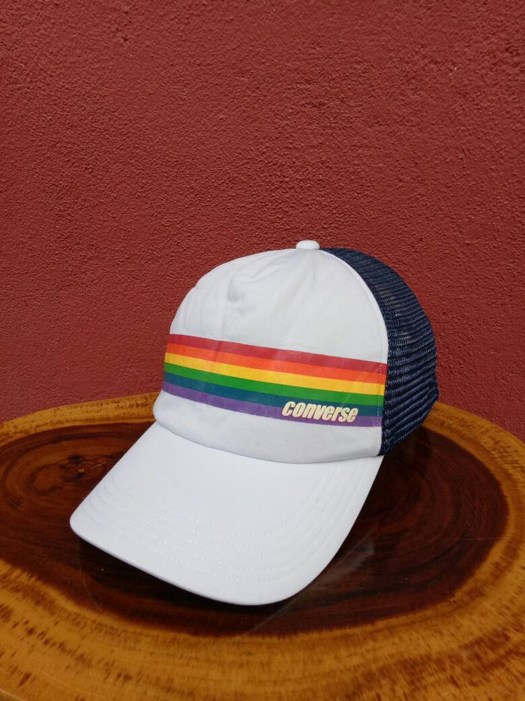 Vintage Converse Rainbow Stripe Cap from  The Sambal Belacan