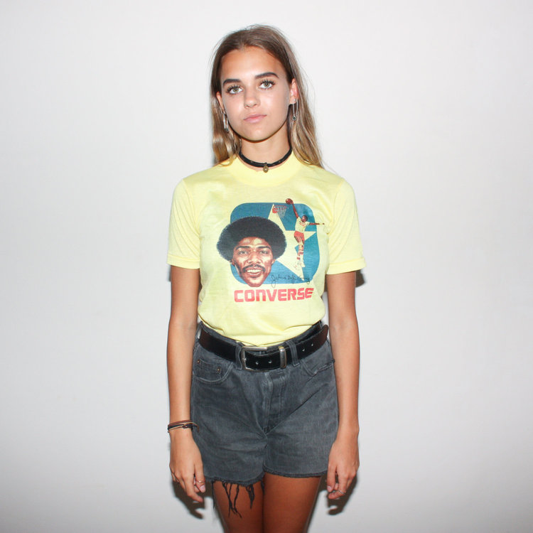 70s Basketball Converse Tee from  Bad Brains Vtg