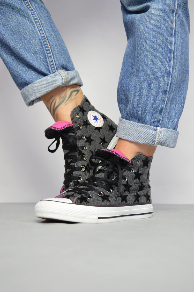 Black Star Converse Hi Tops from  White Rabbit Exchange