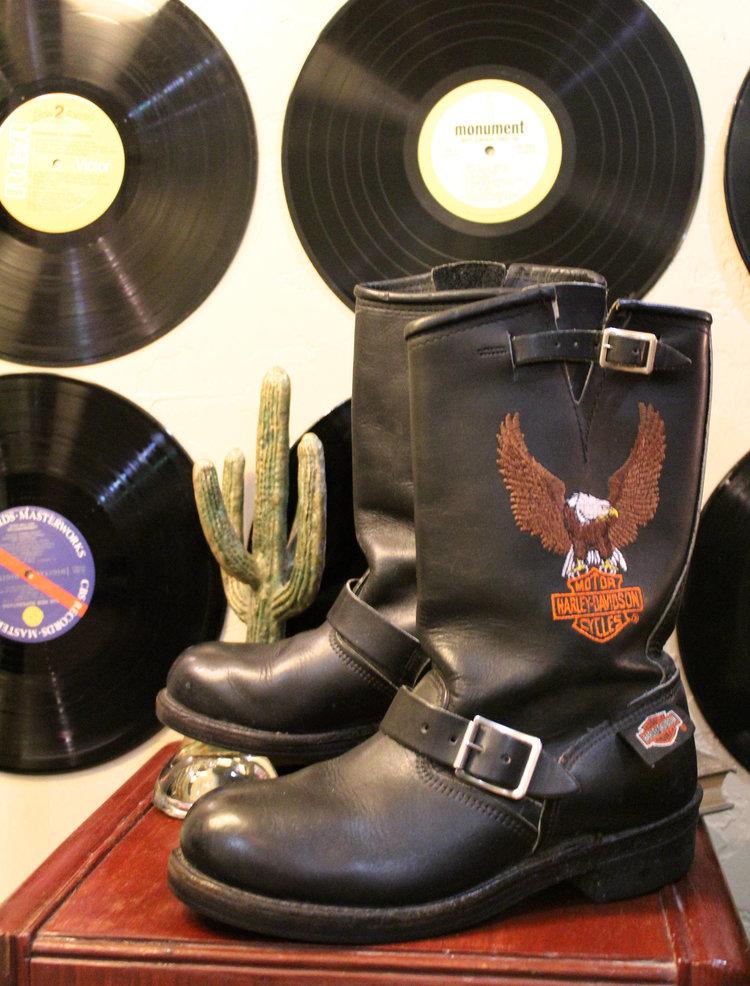 Vintage Harley Davidson Biker Boots from  Shop Kashmir