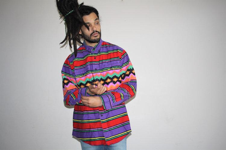 Rainbow Aztec Wrangler Shirt from  Shop Vanguard Vintage